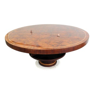 20th Century Rosewood Art Deco Inlaid Dining Table For Sale