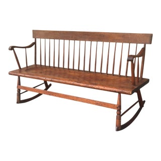 Antique Early American Rocket Bench - Circa 1910 For Sale