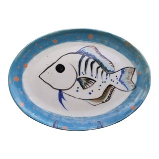 Vintage Contemporary Julie Keyes Fish Platter For Sale