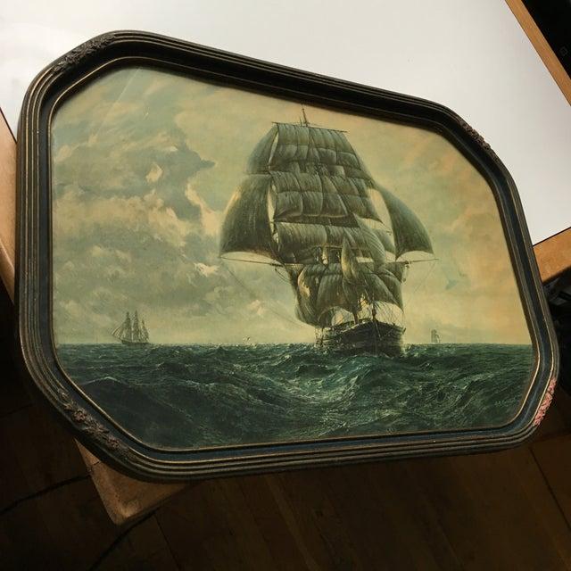 Antique Framed Ship Print For Sale - Image 11 of 11