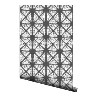 Contemporary Gray Diamond Pre-Pasted Wallpaper - 2 Piece Set For Sale