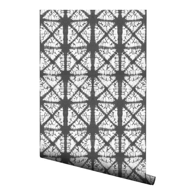 Contemporary Gray Diamond Pre Pasted Wallpaper 2 Piece Set