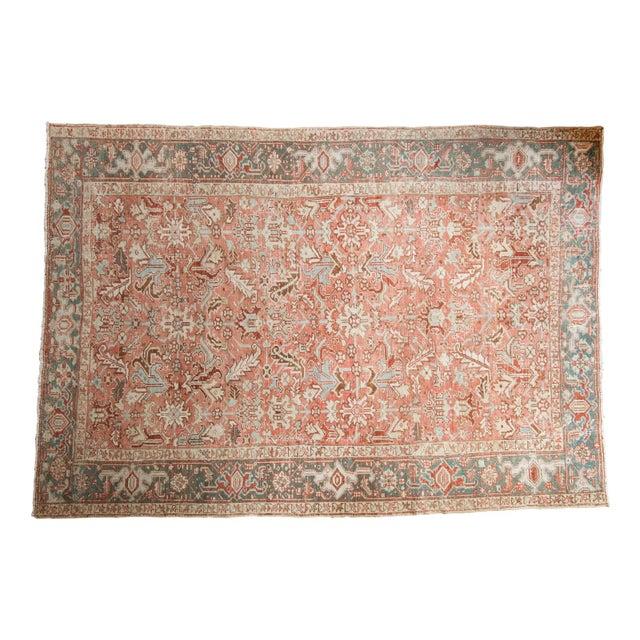 """Vintage Distressed Heriz Carpet - 6'8"""" X 9'6"""" For Sale - Image 13 of 13"""