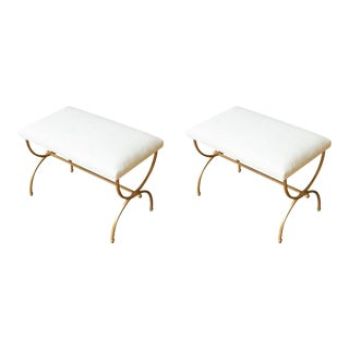 Pair of Gilt Iron Benches