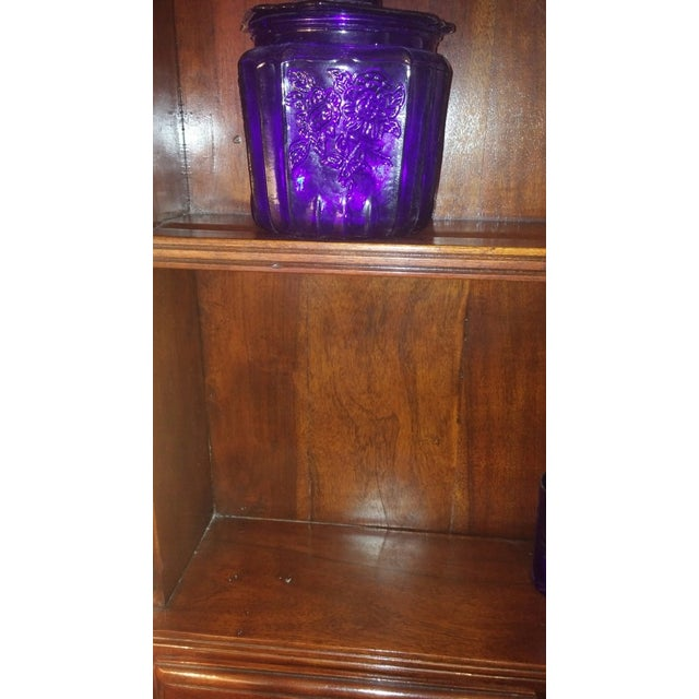 Theodore Alexander Solid Walnut Open China Cabinet - Image 6 of 7