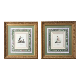 """""""Sorrow"""" and """"Discipline"""" Contemporary John Richard Collection Reproduction Prints, Framed - a Pair For Sale"""
