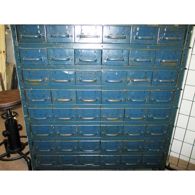 Vintage Industrial Equipto Muti Draw Parts Cabinet For Sale - Image 4 of 13