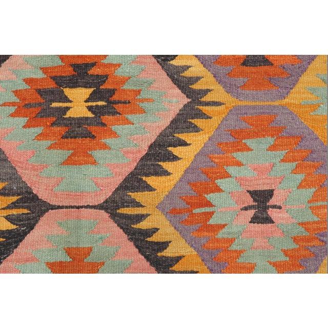 Vintage Turkish Barak Nomad's Flat Weave Rug For Sale - Image 6 of 12
