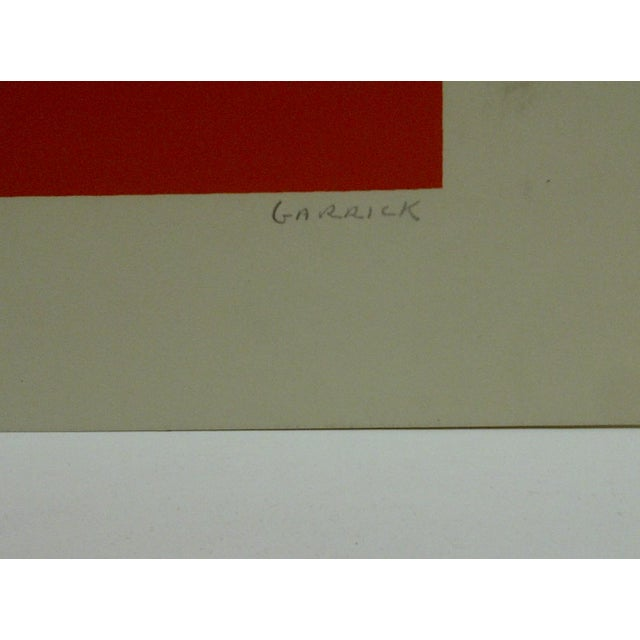 """Limited Numbered (23/25) Signed Print """"Point"""" by Garrick For Sale - Image 5 of 5"""