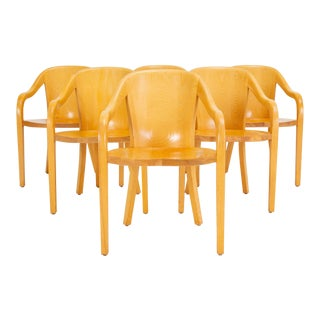Set of Six University Chairs by Ward Bennett for Brickel Associates For Sale