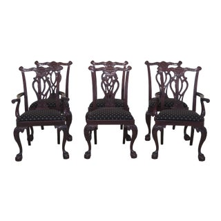 Councill Craftsmen Clawfoot Mahogany Dining Chairs - Set of 6 For Sale
