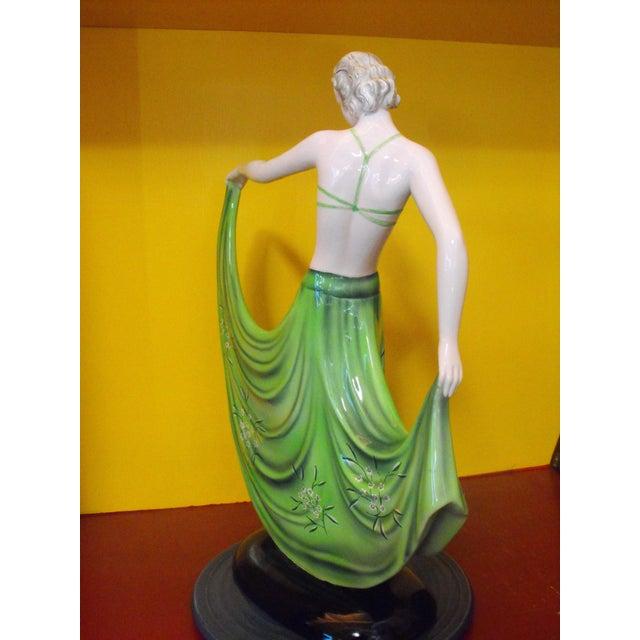 """Goldscheider'sche C. 1939 Goldscheider Dancer by Stefan Dakon, """"Alpete"""", Original Paper Label For Sale - Image 4 of 11"""