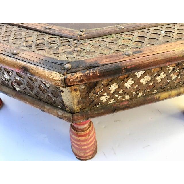 Wood Anglo Raj Moorish Design Octagonal Low Coffee Table For Sale - Image 7 of 12