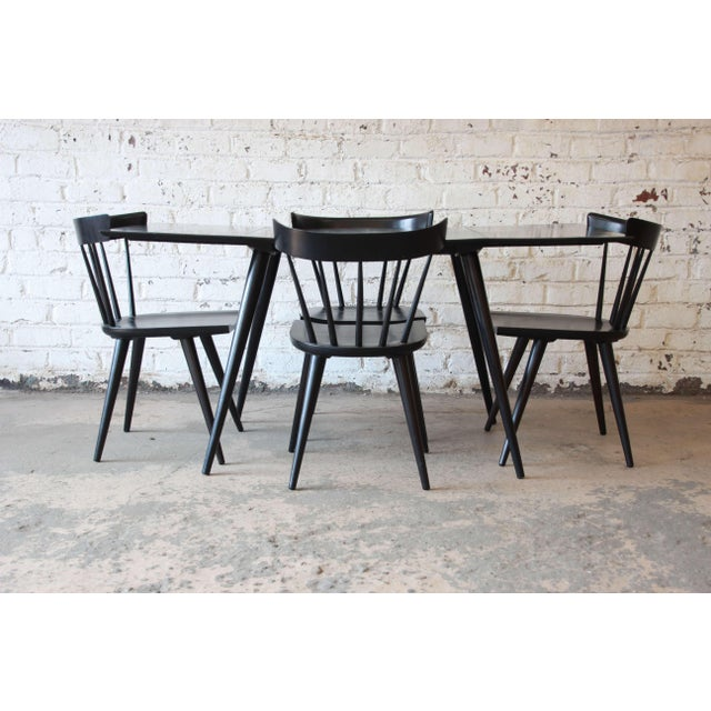 Black Paul McCobb Planner Group Ebonized Dinette Table For Sale - Image 8 of 10