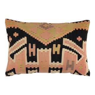 "Reclaimed Kilim XL Lumbar Pillow | 16"" X 24"" For Sale"