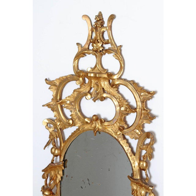 George III Chippendale Style Pier Glass Mirror For Sale - Image 4 of 13