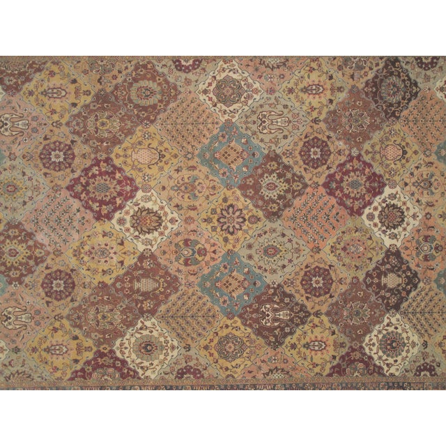 "Brown Agra Carpet - 9'4"" X 12'4"" For Sale - Image 4 of 5"