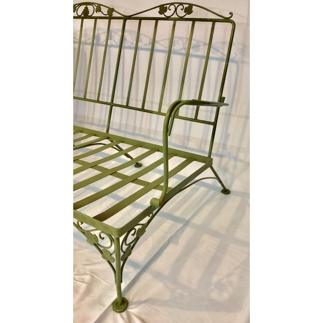 Vintage Woodard Style Wrought Iron Sofa For Sale - Image 9 of 12