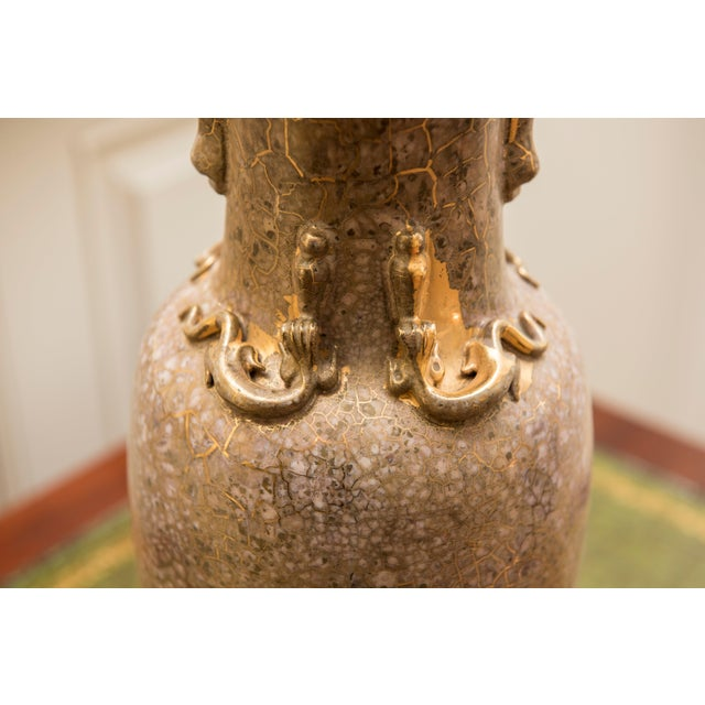 Traditional Traditional Shimmering Blush Ceramic Lamps - a Pair For Sale - Image 3 of 4