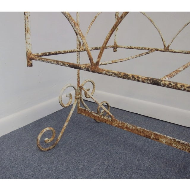Victorian Antique Wrought Iron Scrollwork Crib - Image 5 of 7