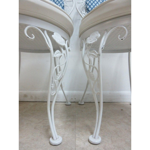 Vintage Woodard Wrought Iron Out Door Patio Chairs - A Pair For Sale In Philadelphia - Image 6 of 7