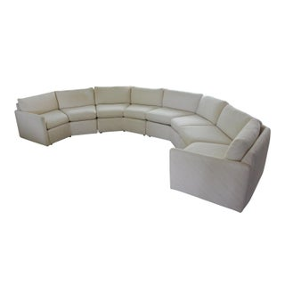 1980s Vintage Bernhardt Flair Octagonal Cream Sectional Sofa For Sale