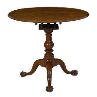 18th Century American Queen Anne Antique Tilt Top Tea Table, Pennsylvania C. 1770 For Sale
