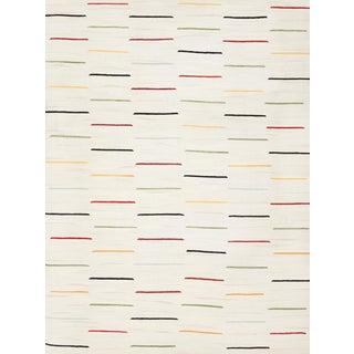 Schumacher Patterson Flynn Martin Salda Hand-Woven Wool Striped Rug - 9' X 12' For Sale