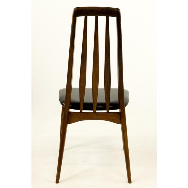 Mid-Century Modern Niels Koefoed Hornslet Rosewood Eva Dining Chairs - Set of 6 For Sale - Image 10 of 12