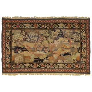 Late 19th Century Antique French Aubusson Wall Tapestry For Sale