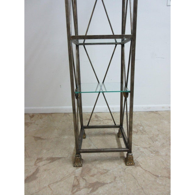 Maitland Smith Metal French Regency Etagere Shelf For Sale - Image 5 of 10