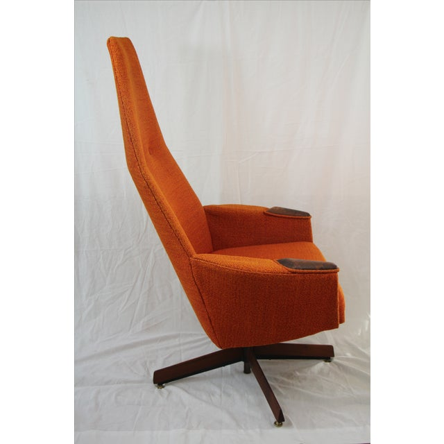 Adrian Pearsall Orange Highback Lounger - Image 3 of 5