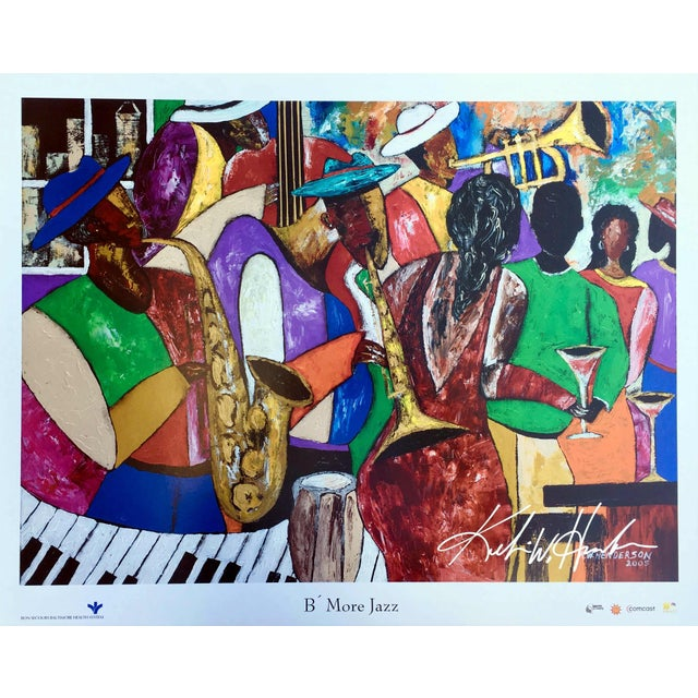 "Modern ""B' More Jazz"" Festival Poster by Keith Henderson For Sale - Image 10 of 10"