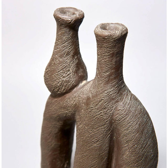 """""""Woman With Vase"""" Ceramic Sculpture by Salvatore Fiume For Sale In Los Angeles - Image 6 of 9"""