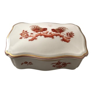 Richard Ginori Fine Porcelain Box For Sale