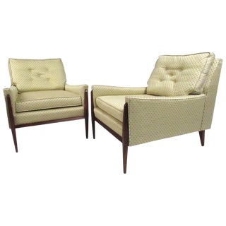 Pair of Mid-Century Paul McCobb Style Lounge Chairs For Sale