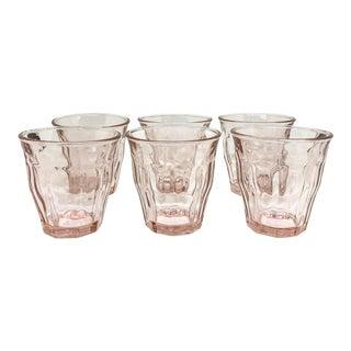 Traditional Light Pink Bistro Handblown Glasses - Set of 6