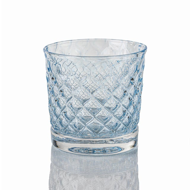 Mindala Short Glasses, Blues and Green - Set of 6 For Sale - Image 4 of 12