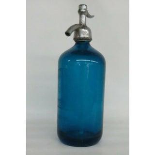 Vintage Blue Seltzer Bottle Preview