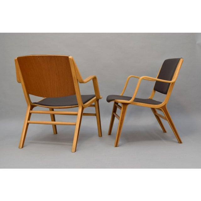 """Peter Hvidt & Orla Mølgaard-Nielsen Leather """"AX"""" Chairs - A Pair - Image 4 of 11"""
