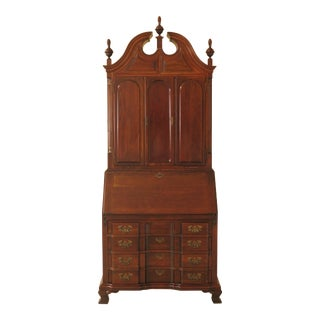 Maddox Chippendale Cherry Blind Door Secretary Desk For Sale