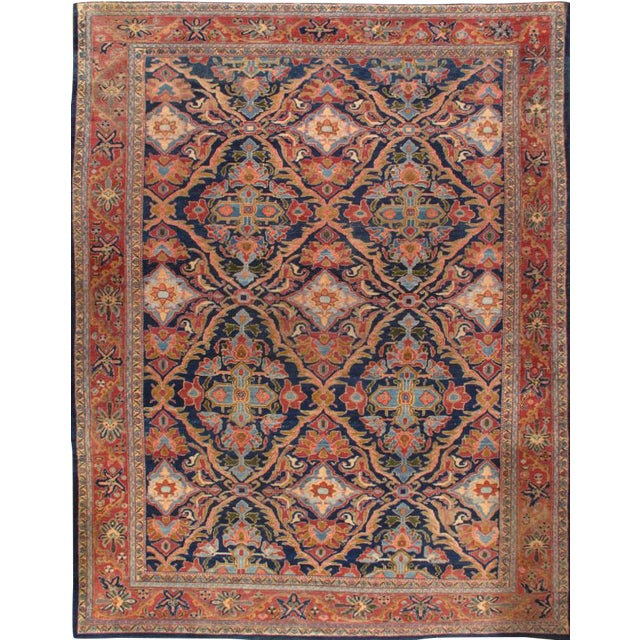 "Islamic Pasargad Antique Persian Malayer Rug - 9' X 11'8"" For Sale - Image 3 of 3"