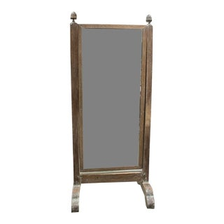 French Dressing Mirror With Scrubbed Frame For Sale