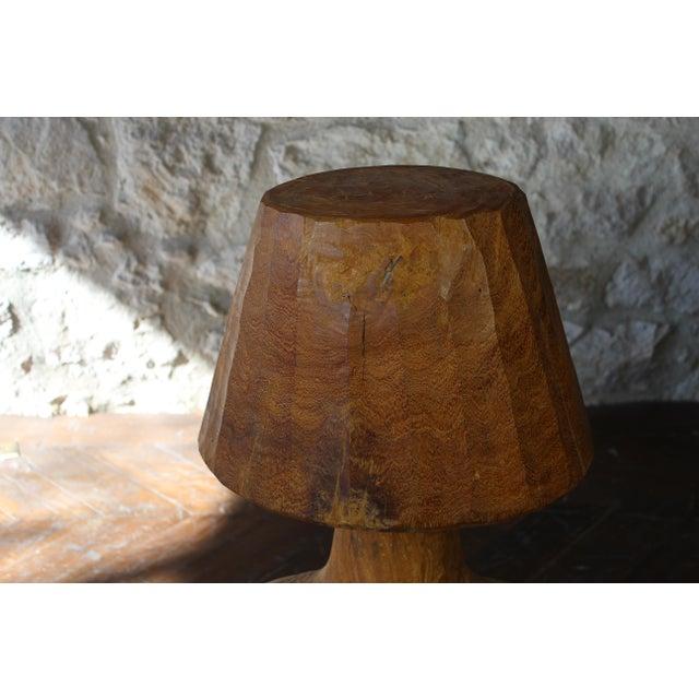 Vintage Short Wooden Torso Form Table Lamp For Sale - Image 4 of 6