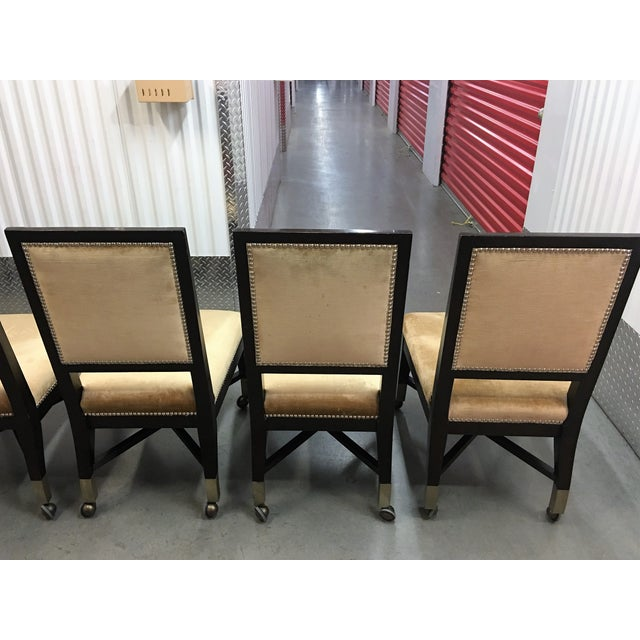 Mark David Gold Velvet Dining Chairs - Set of 6 For Sale - Image 7 of 9
