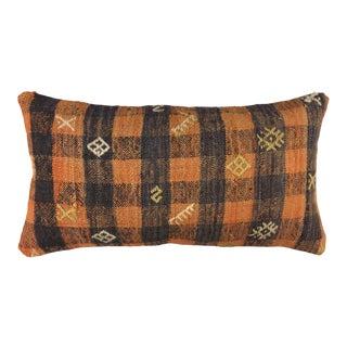 "Cabin Chic Vintage Kilim Pillow | 12 X 20"" For Sale"