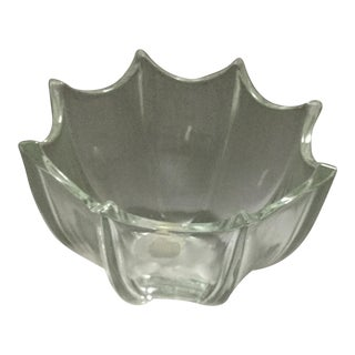Swedish Orrefors Bell Tulip Crystal Candle Holder For Sale