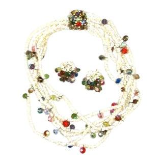 1950s Vendome Demi-Parure Necklace & Earrings - Set of 3 For Sale