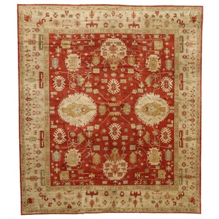 Contemporary Turkish Oushak Rug with Traditional Modern Style - 13'4 x 15'2