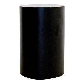Vintage Modern Circular Gray Medium Sized Pedestal Display Stand For Sale